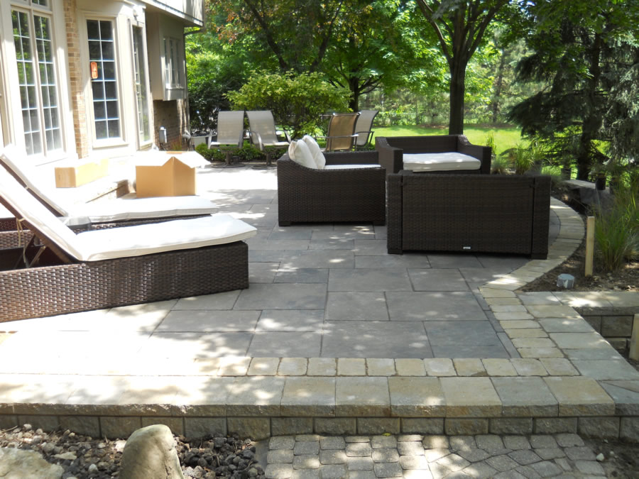 Oakland County Brick Paver Patio