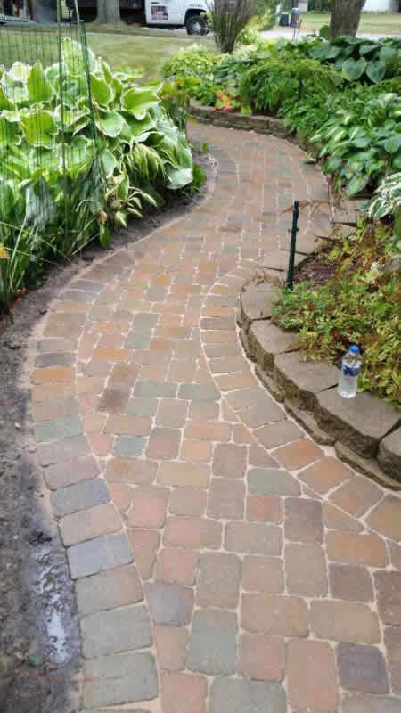 Oakland County Brick Paver Walkway